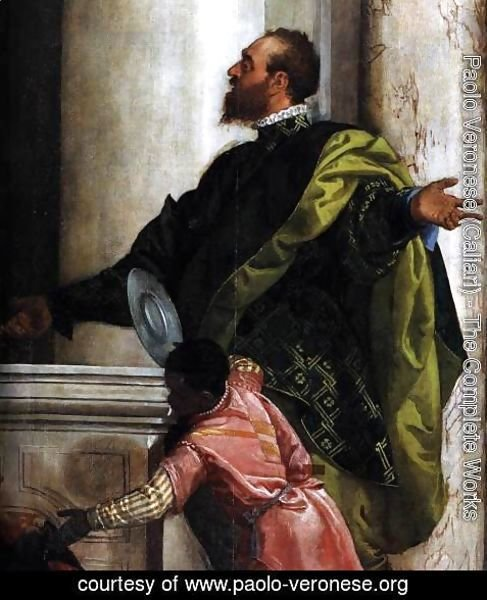 Paolo Veronese (Caliari) - Feast in the House of Levi (detail) 3