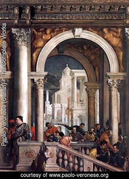 Paolo Veronese (Caliari) - Feast in the House of Levi (detail) 5