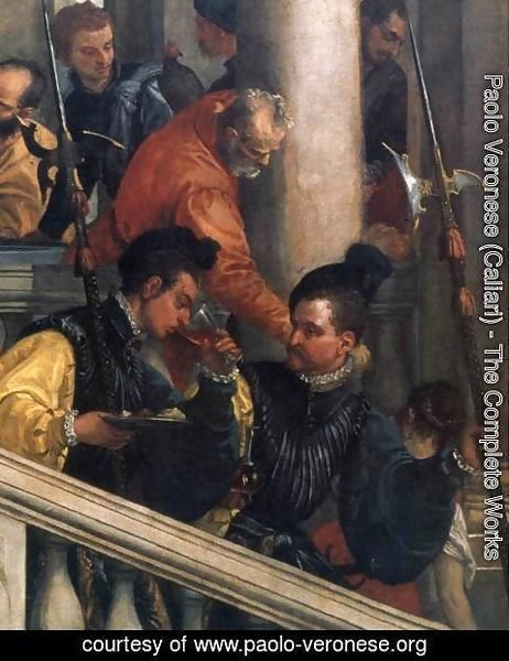 Paolo Veronese (Caliari) - Feast in the House of Levi (detail) 6
