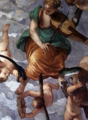 Paolo Veronese (Caliari) - Bacchus, Vertumnus and Saturn (detail)