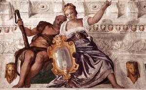 Paolo Veronese (Caliari) - Prudence and Manly Virtue