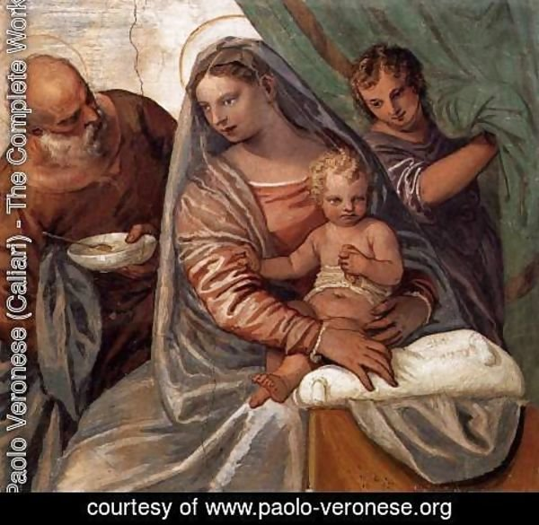 Paolo Veronese (Caliari) - The Holy Family (Madonna della pappa)
