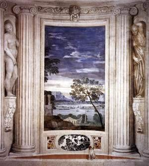 Paolo Veronese (Caliari) - Landscape with Harbour