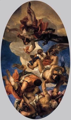 Paolo Veronese (Caliari) - Jupiter Hurling Thunderbolts at the Vices