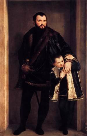 Paolo Veronese (Caliari) - Portrait of Count Giuseppe da Porto with his Son Adriano