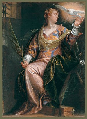 Saint Catherine of Alexandria in Prison ca 1580