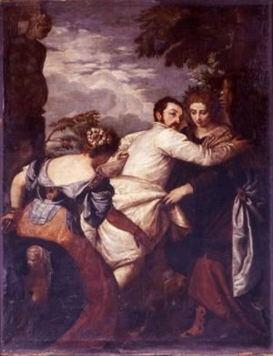 Paolo Veronese (Caliari) - A Poet Choosing Virtue Over Vice Or The Choice Of Hercules
