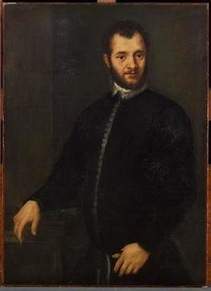 Portrait of a young man in black