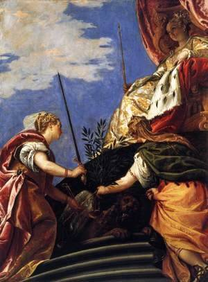 Paolo Veronese (Caliari) - Venice Enthroned Between Justice and Peace